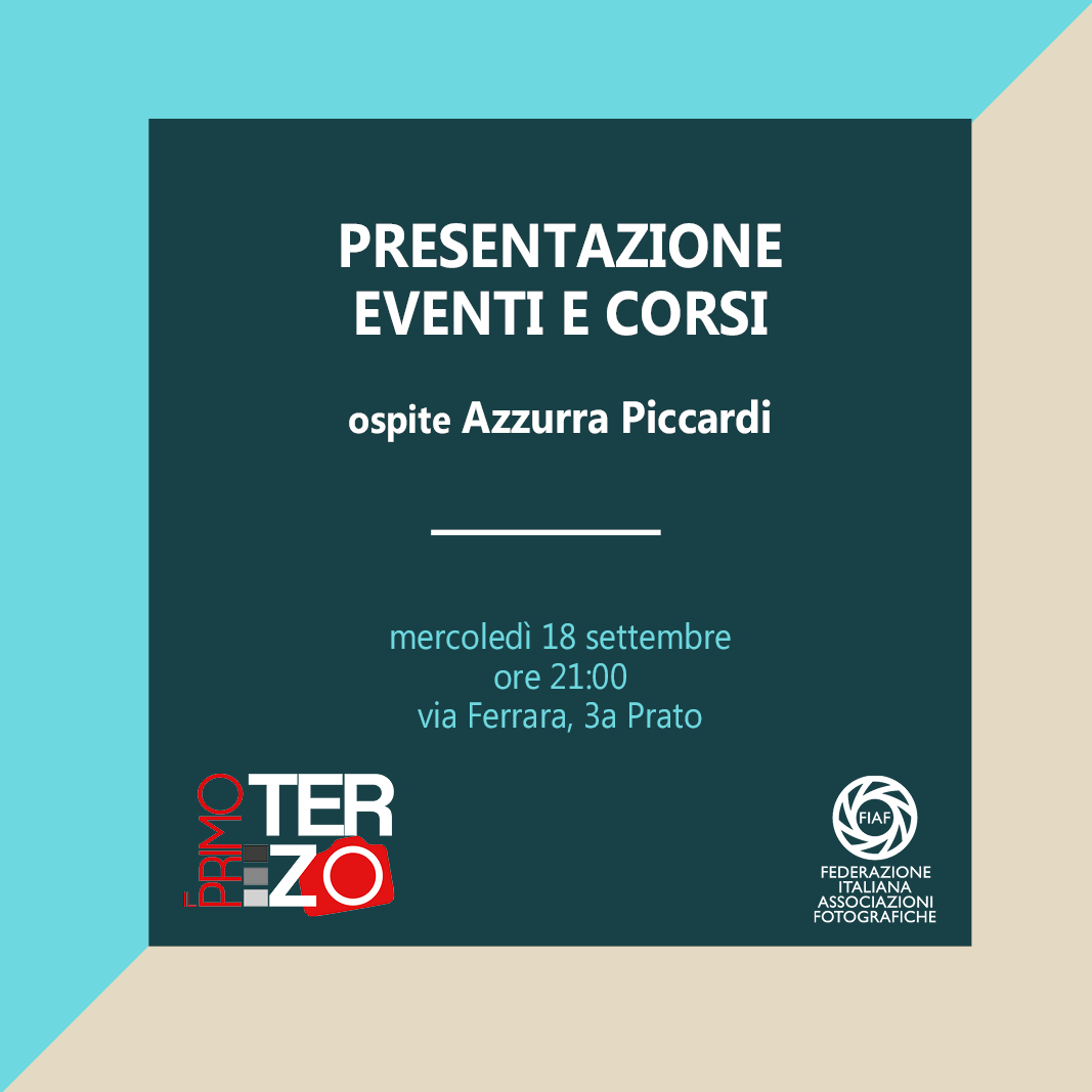 Presentazione Eventi Il Primo Terzo
