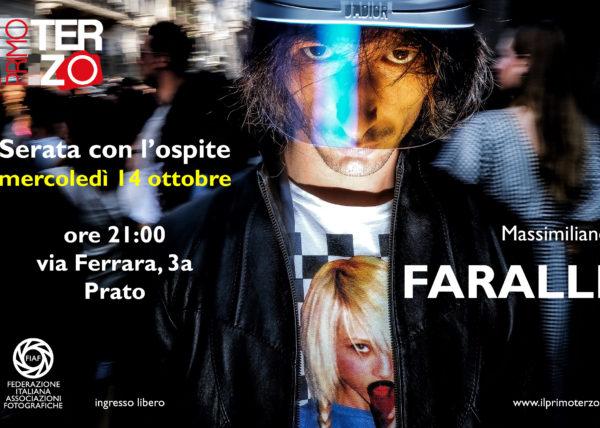 Massimiliano Faralli ospite all'associazione il primo terzo, studio fotografico, fotoclub